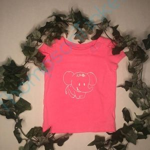 Toddlers Pink Shirt with Elephant